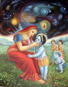 Krishna n maa Krishna Lila, Jai Shree Krishna, Krishna Art, Hare Krishna, Indian Gods, Indian Art, Swing Painting, Radha Krishna Wallpaper, Sacred Art