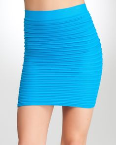All you need is splash of color and a sexy silhouette. (bebe Multi Texture Mini Bodycon Skirt, $39, SKU 198178)  #bebe #wishesanddreams