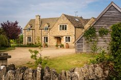 Cheltenham luxury self-catering country house in the Cotswolds; perfect for large groups seeking luxury accommodation in Cheltenham and Cirencester House Party, Riverside Village, Farm House For Sale, Stone Cottages, Self Catering Cottages, Luxury Accommodation, Beautiful Buildings, Countryside, Farmhouse