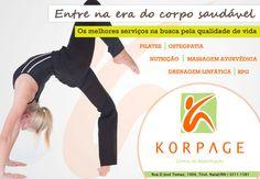 Anúncio de meia página para revista Viver Bem.  Cliente: Korpage Centro de Reabilitação  www.korpage.com.br