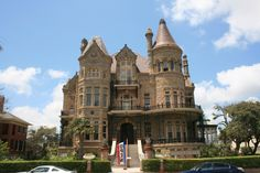 Bishop's Palace (Gresham Castle)  5940394641_4036a2b281_b Location: Galveston, Texas  History: This Victorian castle (formerly known as Gresham Castle) was built by lawyer and railroad entrepreneur Colonel Walter Gresham and architect Nicholas Clayton from 1887 to 1892. The Bishop's Palace gets it's name from recently serving as a Catholic bishop's residence.