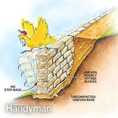 Retaining Wall Design, Building A Retaining Wall, Garden Retaining Wall, Building A Fence, Retaining Walls, Landscaping Around Patio, Landscaping On A Hill, Landscaping Design, Diy Privacy Fence