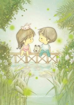 Character & Co - Ato Recover Couple Illustration, Illustration Art, Cute Images, Cute Pictures, Chibi, Jolie Photo, Cute Cartoon Wallpapers, Nursery Art, Cartoon Art