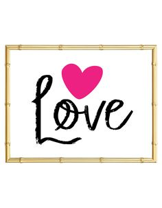 Download and print this Love Heart free printable wall art for your home or office!