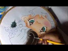 Pintura en tela niña campaña # 2 con cony