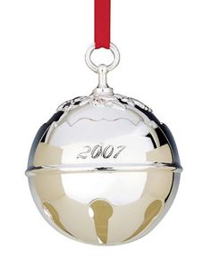 Silver Plated 2007 Annual Holly Bell Ornament