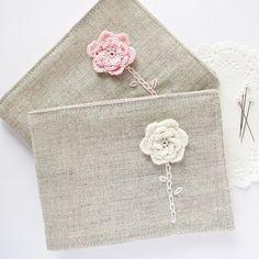 linen/flax needle book