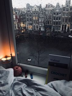 day in Amsterdam. Rainy day in Amsterdam.Rainy day in Amsterdam. Cozy Aesthetic, Autumn Aesthetic, Aesthetic Rooms, Night Aesthetic, Mountain Bedroom, Forest Bedroom, Nature Bedroom, Garden Bedroom, Pool Bedroom