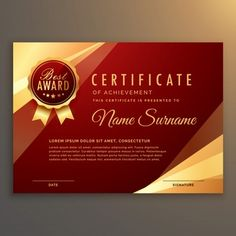 Premium red certificate and diploma template design vector Free Vector Certificate Layout, Certificate Background, Certificate Of Achievement Template, Certificate Design Template, Premium Business Cards, Luxury Business Cards, Elegant Business Cards, Business Card Design, Certificate Of Appreciation