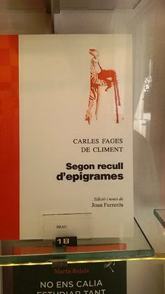 """""""Segon recull d'epigrames"""" de Carles Fages de Climent. Brau Edicions."""