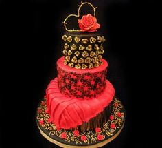 Argentine Tango Cake by MartaBarata … http://cakesdecor.com/cakes/103063