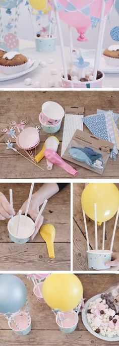 Trendy baby shower party ideas diy for girls ideas Baby Shower Simple, Deco Baby Shower, Baby Shower Balloons, Baby Boy Shower, Shower Bebe, Baby Party, Baby Shower Parties, Baby Shower Themes, Shower Party
