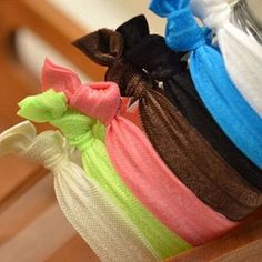 Bracelets Ponytail Holder Beautiful Hair Tie Rubber Band Colorful Twist Pin New #Unbranded