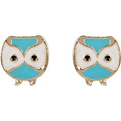 Monsoon Cute Owl Stud Earrings (54 EGP) ❤ liked on Polyvore featuring jewelry, earrings, accessories, black and white earrings, owl earrings, black and white jewelry, owl jewellery and black white earrings