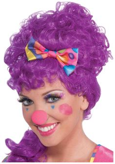 female clown makeup - might do this instead of the all white face.  Easier to take off