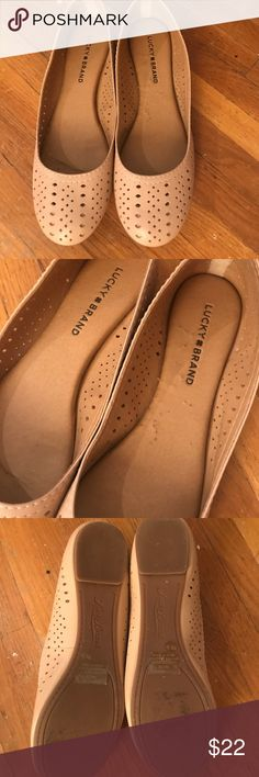 Lucky Brand flats Lucky Brand flats - only worn once. Color is a nude/peach. Lucky Brand Shoes Flats & Loafers