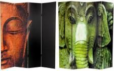 Tall Double Sided Buddha and Ganesh Canvas Room Divider - Wide selection of Room Dividers, Shoji Screens, Oriental and Asian Home Furnishings, Chinese Lamps and accessories at warehouse prices. Yoga, 4 Panel Room Divider, Divider Screen, Folding Room Dividers, Wall Dividers, Folding Screens, Shoji Screen, Oriental Furniture, Oriental Decor