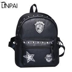 Fashion Women's Backpacks School Bags Star Pattern Shoulder Bags Women Casual Backpacks Travel Bag Rivet Mochilas Feminina #Affiliate