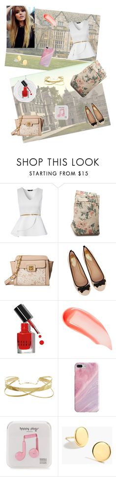 """""""Rights of spring"""" by alinawela18 ❤ liked on Polyvore featuring Oxford, Jane Norman, Current/Elliott, Jessica Simpson, Oasis, Bobbi Brown Cosmetics, NARS Cosmetics, Recover, Happy Plugs and J.Crew"""
