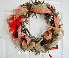 vintage kitchen tool wreath, crafts, home decor, kitchen design, tools, wreaths