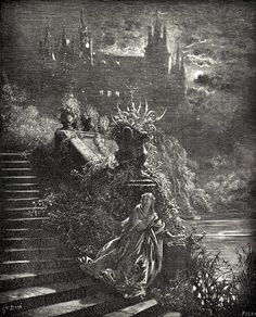 Donkeyskin (a lterary French fairy tale) illustrated by Gustave Dore (1832 - 1883).