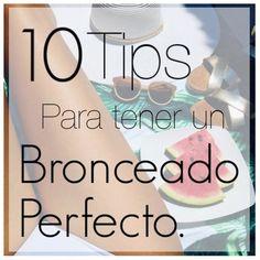 1O Tips para tener un bronceado perfecto. | Entre Palmeras