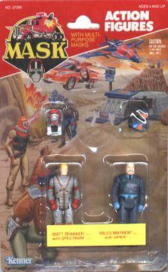 M.A.S.K MASK Action Figure MATT TRAKKER RHINO 1985 #2