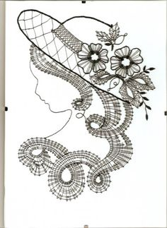Looking for heds made with these prickings - Kikka Sal - Веб-альбомы Picasa Bobbin Lace Patterns, Embroidery Patterns, Lace Art, Crochet Needles, Lacemaking, Parchment Craft, Point Lace, Needle Lace, Silk Ribbon Embroidery