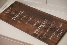 Large cord of three strands wood sign. A cord of by Bridges2You