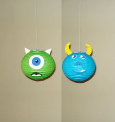monster inc paper lanterns  This Paper Lantern is handmade, Measures approximately 8 inches in diameter.You will just need to insert the expander