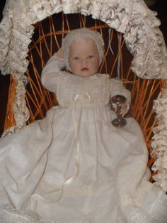 franklin mint christening doll...