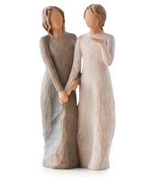 Demdaco Willow Tree Figurines by Susan Lordi: Sisters by Heart and My Sister, My Friend Gay Wedding Cakes, Lesbian Wedding, Wedding Cake Toppers, Wedding Sweets, Wedding Vows, Wedding Anniversary, Paper Clay, Clay Art, Willow Tree Engel