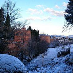 Nieve en la #Alhambra #Granada febrero 2015