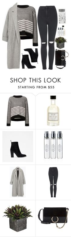 """- Grey intention -"" by lolgenie ❤ liked on Polyvore featuring Proenza Schouler, Fresh, Zara, Byredo, Topshop and Chloé"