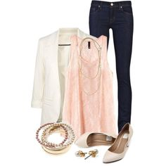 """Lace & Pearls"" by qtpiekelso on Polyvore"