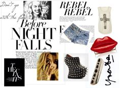Rebel, Rebel, created by christina-chrysandrea on Polyvore