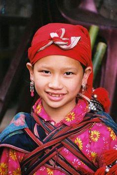 Vietnam - Red Dzao Hill Tribe Girl