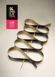 malaga film festival Festival Cinema, Film Festival Poster, Geometric Graphic Design, Beautiful Film, Inspirational Posters, Print Advertising, International Film Festival, Typography Logo, Film Posters