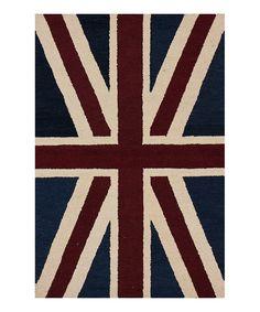 Look at this #zulilyfind! Union Jack Wool Rug by nuLOOM #zulilyfinds