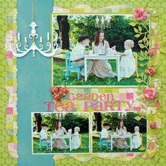 love the chandelier and the flower vine Garden Tea Party - Scrapbook.com