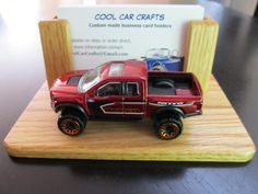 Shelby gt 350r business card holder oak wood desk sales office ford f 150 raptor business card holder oak wood desk sales office display w red die cast pick up truck by coolcarcrafts on etsy reheart Image collections