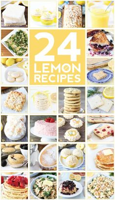 24 of the BEST Lemon Recipes on twopeasandtheirpod.com You will love all of these sweet and savory lemon recipes!