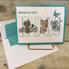 Christi's Creative Crew: Pretty Kitty Day 1 Tap the link Now - The Best Cat Products - Worldwide Shipping! Dog Cards, Kids Cards, Baby Cards, Pretty Cats, Pretty Kitty, Pet Sympathy Cards, Mini Albums, Alphabet Cards, Stamping Up Cards