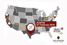 Velenosi Vini e SLOW WINE fanno tappa ad AUSTIN.  Continua il nostro tour con Slow Wine. Lunedì 1 Febbraio vi aspettiamo ad Austin, Texas, per la terza tappa del nostro viaggio americano!  -  Velenosi Vini and SLOW WINE are heading to AUSTIN.  Another date for our Slow Wine tour. Join us Monday the 1st of February in Austin, Texas, for the third date of this american tour.  #WorldWine #vinipiceni #SlowWine2016 #Austin #winelovers