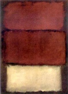 Mark Rothko, 1960, untitled. He studied art at Yale and at the Art Student's League in New York City in the early 1920s. By 1943 he was associated with Abstract Expressionists including Jackson Pollock, Clyfford Still, Willem de Kooning, Helen Frankenthaler and others. The term meant that their art made no reference to the material world, yet it was highly expressive, conveying strong emotional content. (Text fr http://www.biography.com) (Photo fr http://www.wikiart.org/en/mark-rothko/red)