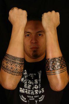 Java batik style forearm tattoo
