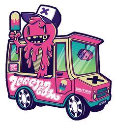 47 Renders de Monstruos Animados!  · sin descargas · Graffiti Art, Graffiti Doodles, Graffiti Drawing, Dessin Old School, Truck Tattoo, Ice Cream Van, Weed Art, Graffiti Characters, Bizarre Art