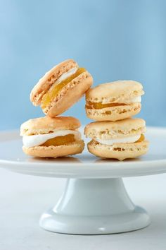 Lemon curd macaroons. Mmmm....