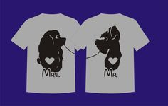 Disney Couple Lady and Tramp Shirts - Perfect for Family Vacation, Wedding, Honeymoon, or Just for Fun! by SugarCoatedDreams on Etsy https://www.etsy.com/listing/251496314/disney-couple-lady-and-tramp-shirts