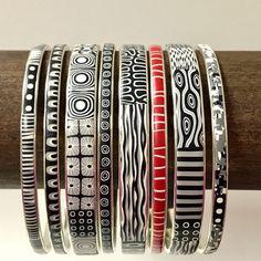 slim polymer clay bracelets fimo bagle